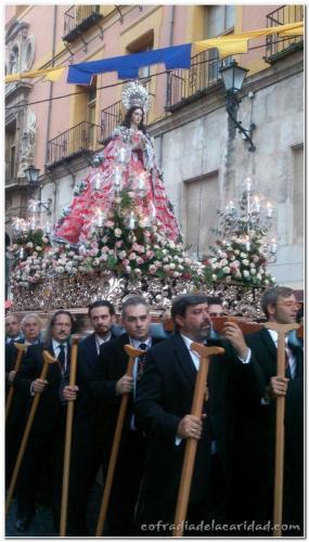 003 Caridad en Procesión Virgen de Gracia 18 oct 2014